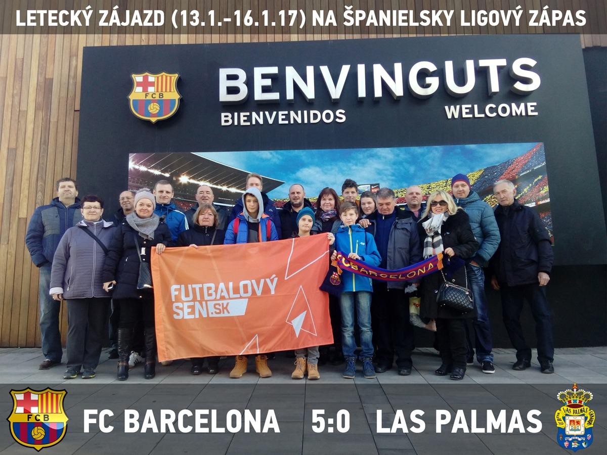 futbalový zájazd na zápas Barcelona - Las Palmas