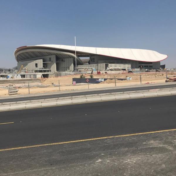 Rozostavaný štadión WANDA METROPOLITANO