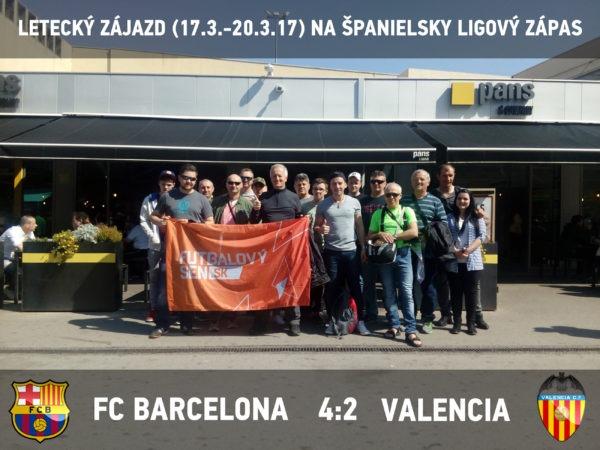 futbalovy zajazd na Barcelona - Valencia