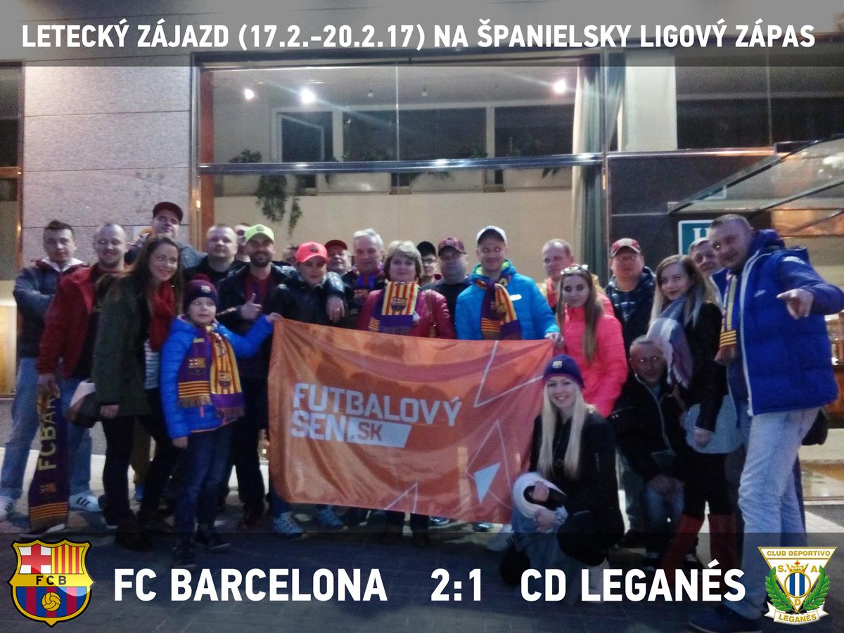 futbalový zájazd na Barcelona - Leganes